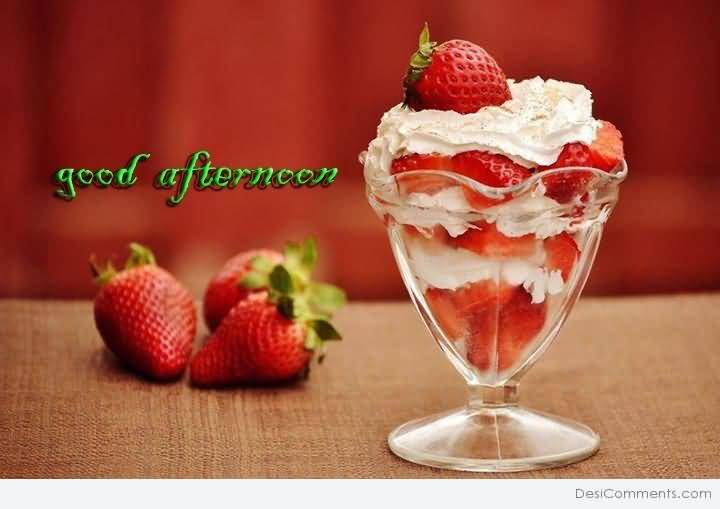 Good Morning Quotes Hd Wallpaper Download Wishing Good Afternoon With Ice Cream