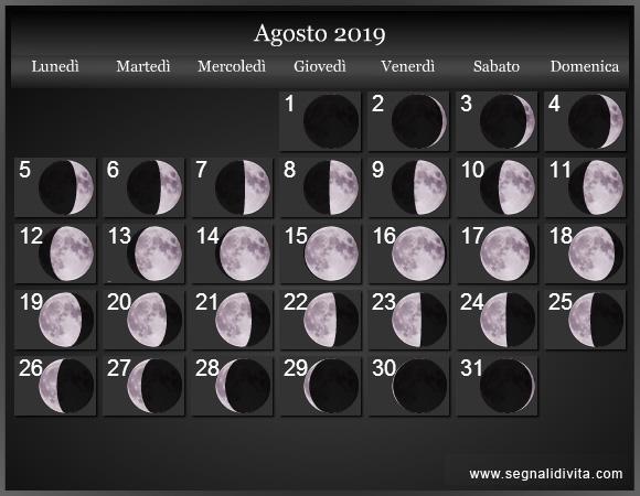 calendario 2019 word