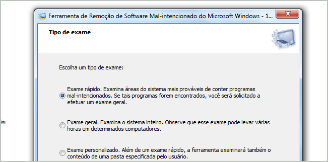 Ferramenta de Remoção de Softwares Maliciosos do Windows 7.