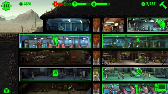 Fallout Shelter, jogo Android grátis.