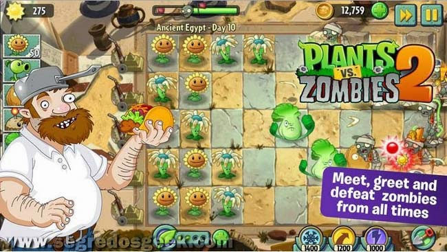 Plants vs Zombies 2 para Android gratuito.