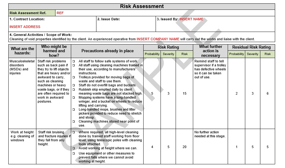 Risk Assessment  Method Statement For Asphalt Flat Roof Covering