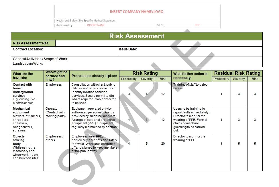 Landscaping Risk Assessment Seguro