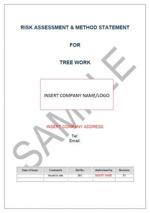 Risk  Method Statement for Tree Work Seguro