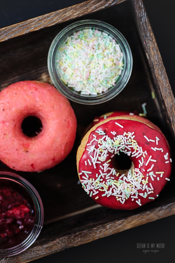 doughnuts with berry glaze
