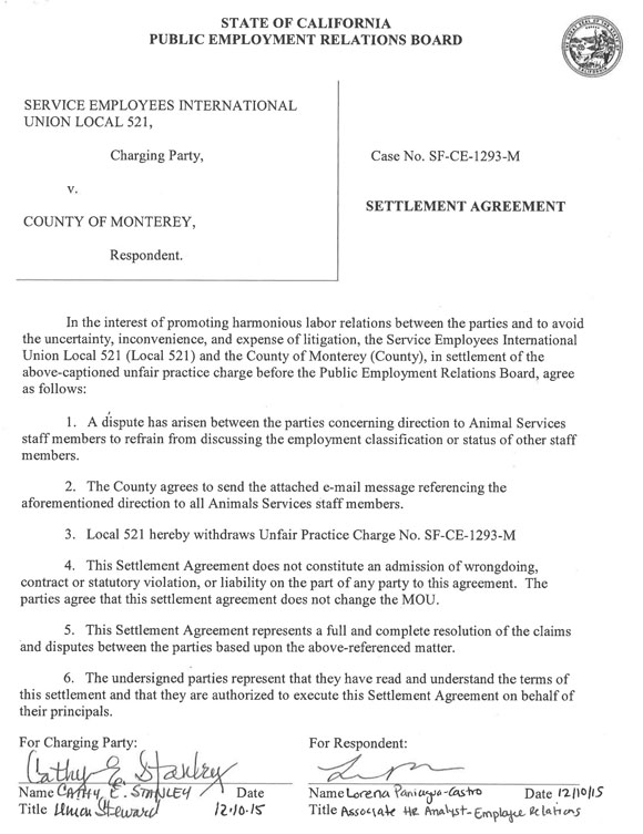 Untitled - settlement agreement