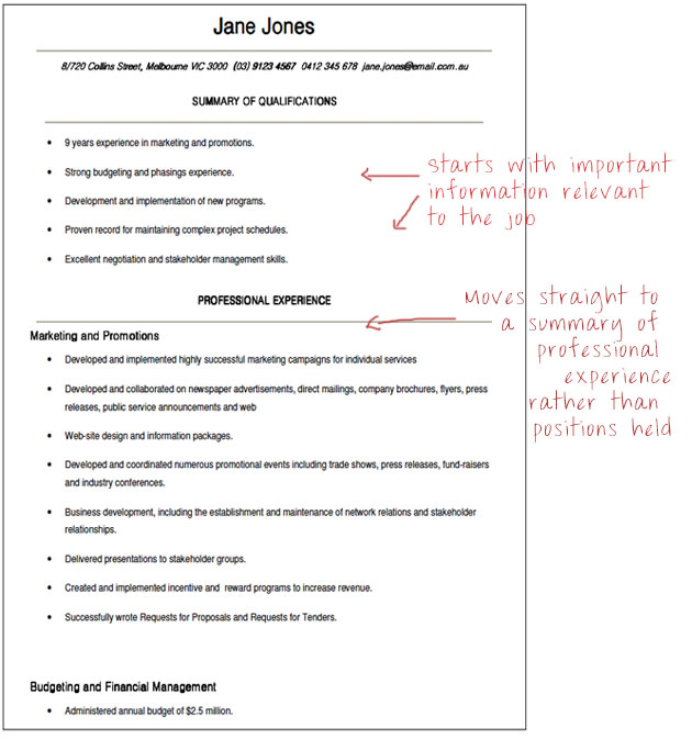 Government Resume Formats - examples of government resumes