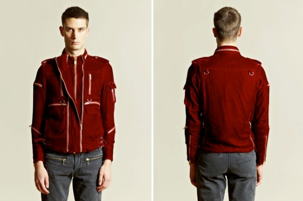 Blackmeans Velvet Zipper Jacket