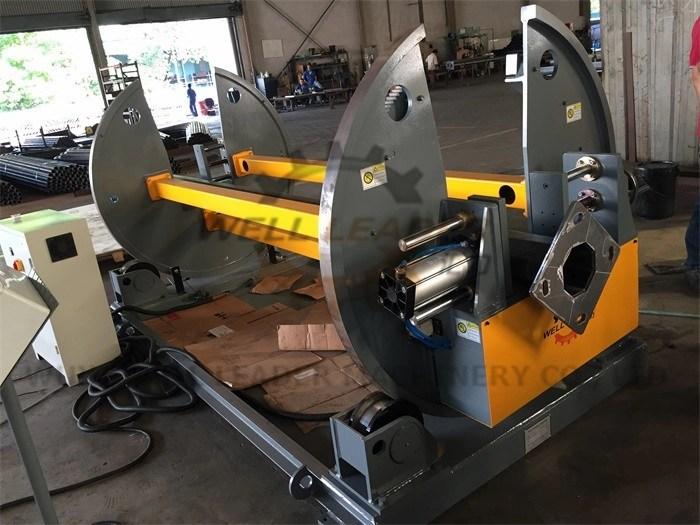 Motorized Light Pole Welding Machine PLC control Rotation For Robot