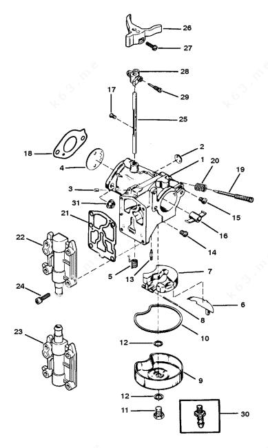 mercury mariner carburetor