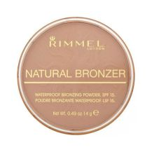 Bronzujúci púder Rimmel London Natural Bronzer Waterproof Bronzing Powder