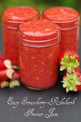 Easy Strawberry Rhubarb Freezer Jam
