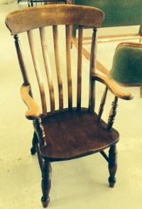 Antique High Back Farmhouse Windsor Chair Circa 1860 ...
