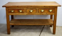 Pine Kitchen Scullery Table Three Drawers | 281202 ...