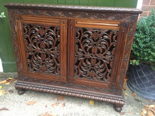Mid C19th Anglo Indian Carved Padouk Or Rosewood Dwarf