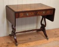 Burr Walnut Drop Leaf Sofa Table   285760 ...