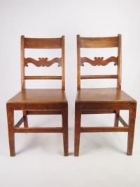 Pair Antique Oak Kitchen Chairs   254955   Sellingantiques ...