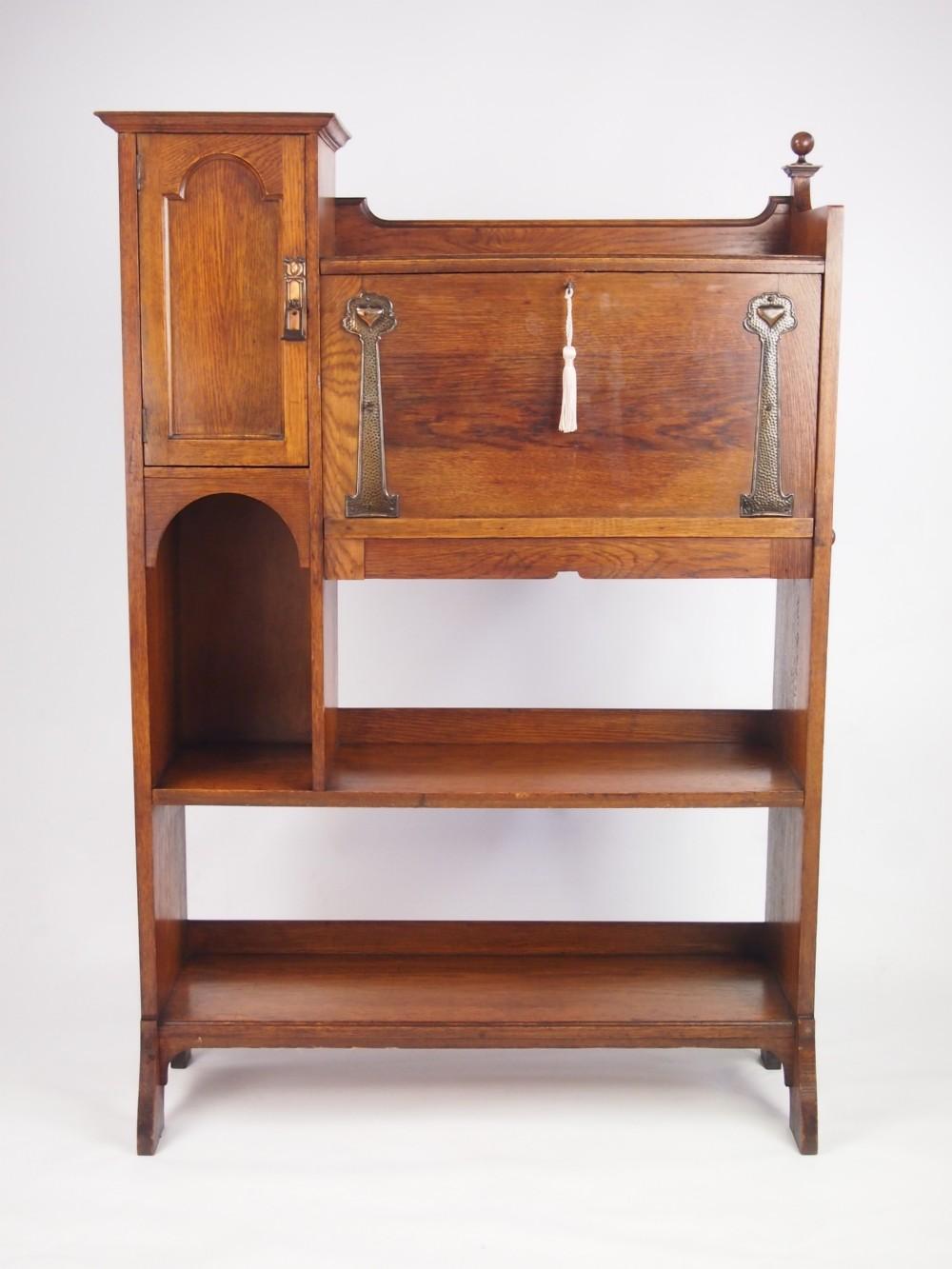 Arts and crafts bureau -  Arts And Crafts Oak Hall Bureau Bookcase Download
