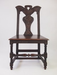 Victorian Gothic Revival Oak Hall Chair | 331322 ...