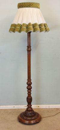Quality Floor Standing Walnut Standard Lamp | 481172 ...