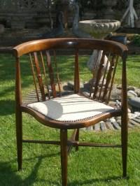Antique Edwardian Mahogany Corner Chair   338540 ...