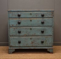 Rustic, Painted Georgian Antique Chest Of Drawers ...
