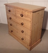 Victorian Rustic Pine Chest Of Drawers   403742 ...