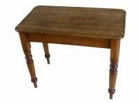 Small Antique Victorian Pine Kitchen Side Table | 261376 ...