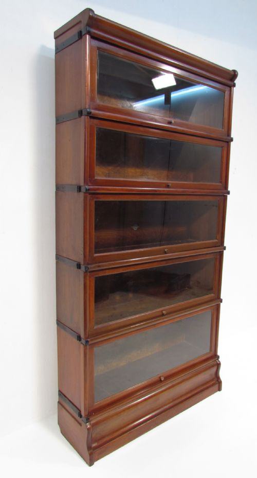 Antique Mahogany Globe Wernicke 5 Stack Bookcase