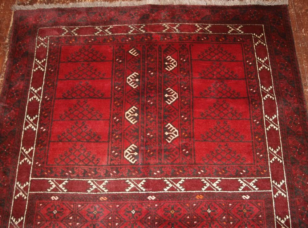 Old Afghan Ersari Rug Of Ensi Design Superb Colour About
