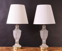 A Superb Pair Of Crystal Cut Glass Table Lamps. | 264655 ...