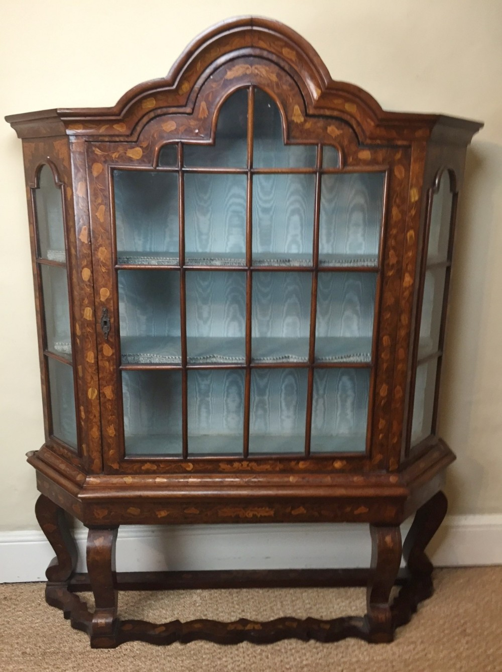 A Late 18th C Dutch Walnut And Marquetry China Cabinet C