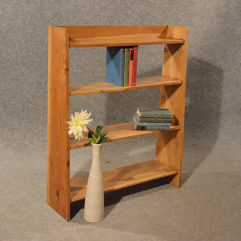 Antique Bookcase Display Wall Shelves Whatnot Solid