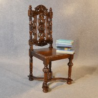 Antique Chair Oak Tall High Back Drawing Room Victorian ...