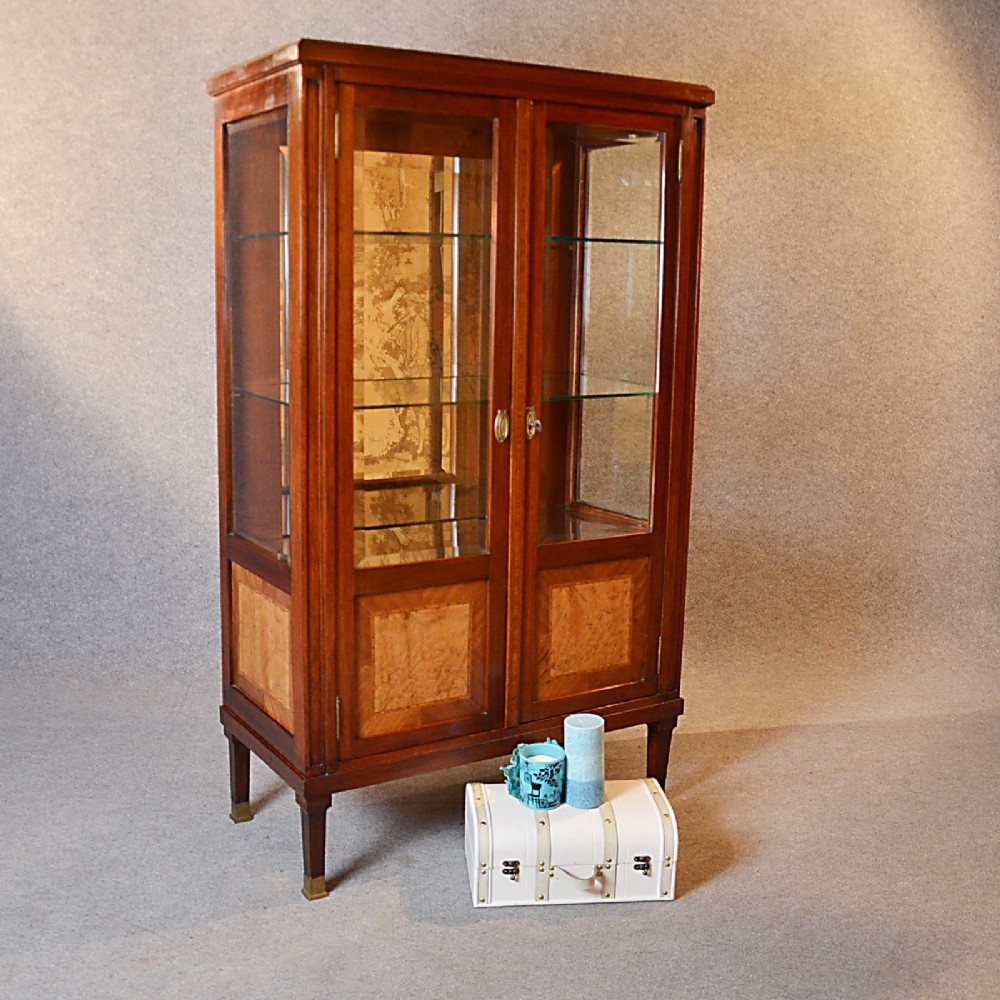 Antique Display Case China Cabinet Glazed Bookcase Fine
