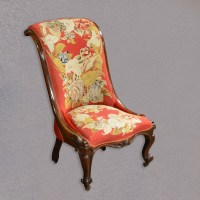 Antique Nursing Chair Victorian Needlepoint Seat English ...