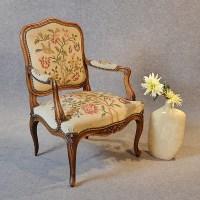 antique needlepoint chair antique armchair walnut ...