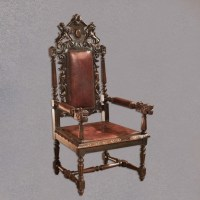 Antique Gothic Revival Hall Chair, Victorian, Carved ...