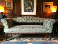 Antique Sofa Settee Club Style Victorian Green Velvet 19th ...