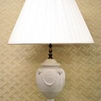 Wedgewood White Jasperware Single Table Lamp