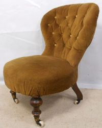Victorian Small Upholstered Nursing Chair | 198287 ...