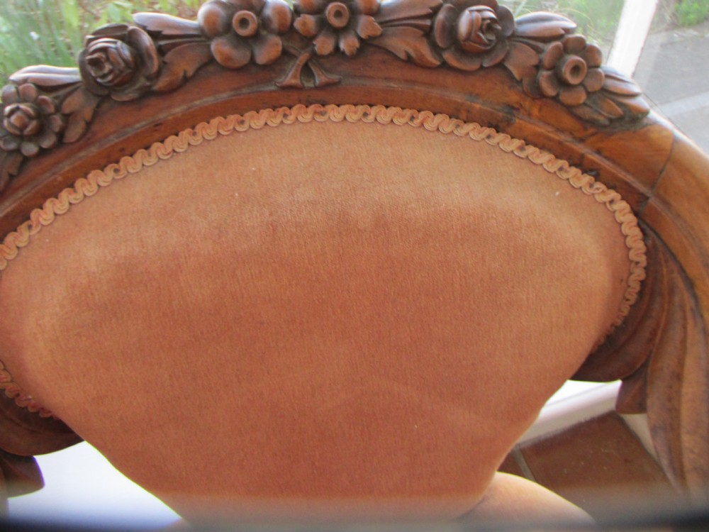 Good C19th French Carved Walnut Arm Chair 336317
