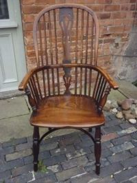 Antique Victorian Yew Wood Windsor Chair | 185368 ...