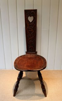 Solid Oak Carved Welsh Spinning Chair | 128568 ...