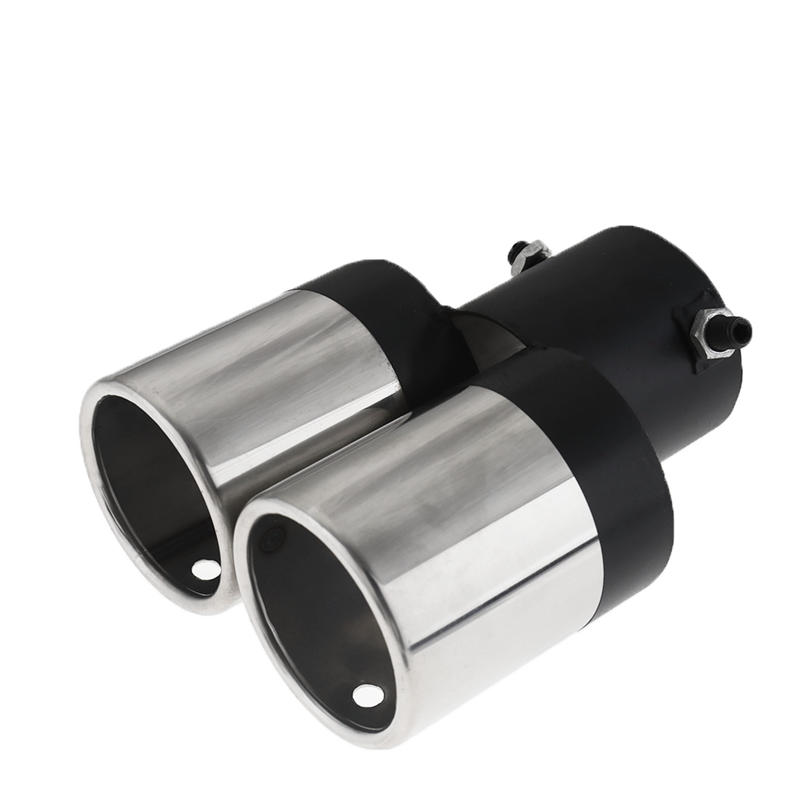 60mm Stainless Steel Twin Dual Muffler Exhaust Tips Tail