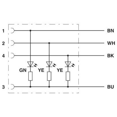 Phoenix Contact Sensor cable 1668292 SAC-4P- 3,0-PUR/M12FR-3L