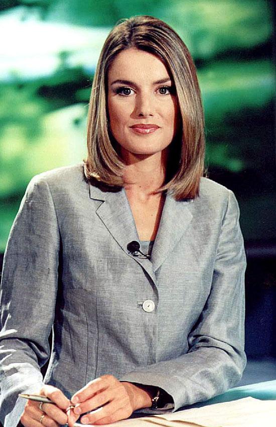 Presentando el Telediario, 2003