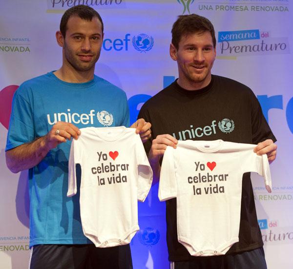 Messi-ranas Unicef