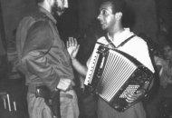 Con el comandante Fidel Castro.