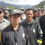 Vigilantes empresa Hemaia Security en huelga. Foto Nelosi